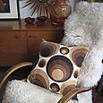 BrownCircles-vintage-cushio